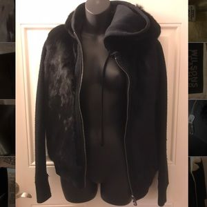 Juicy Couture reversible fur jacket sweater